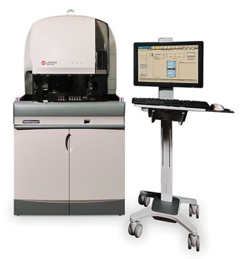 Image: UniCel DxH Slidemaker Stainer Coulter Cellular Analysis System (Photo courtesy of Beckman Coulter).