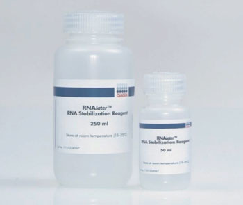 Image: RNAlater, ribonucleic acid stabilization reagent (Photo courtesy of Qiagen).