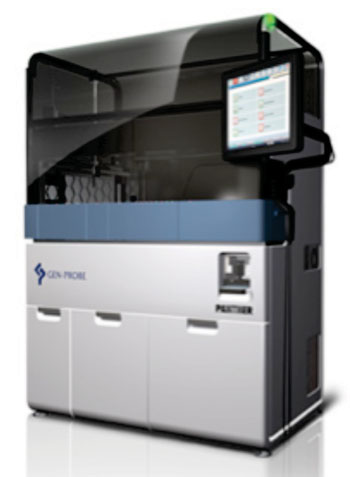 Image:  The Procleix Panther System is a highly evolved, fully integrated and automated NAT (nucleic acid technology) system for blood and plasma screening (Photo courtesy of Grifols Diagnostic Solutions Inc.).