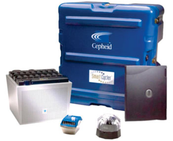 Image: The SmartCycler System for Real-Time Polymerase Chain Reaction (Photo courtesy of Cepheid).