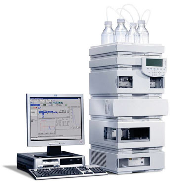 Image: The Agilent 1100 high-performance liquid chromatography (Photo courtesy of Agilent Technologies).