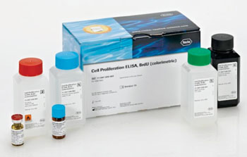 Image: The BrdU Cell Proliferation enzyme-linked immunosorbent assay kit (Photo courtesy of Roche Diagnostics).