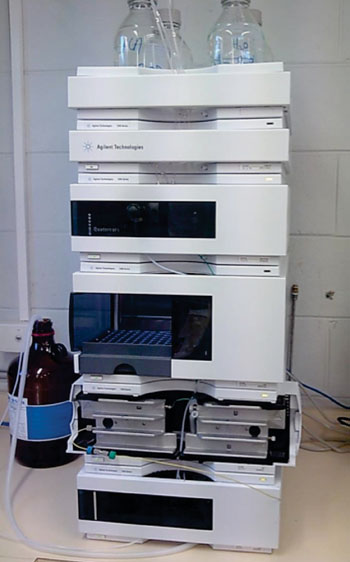 Image: The Series 1200 high pressure liquid chromatography (HPLC) system (Photo courtesy of Agilent Technologies).