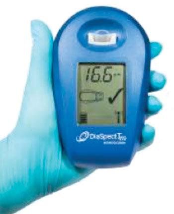 Image: The DiaSpect hemoglobin analyzer (Photo courtesy of EKF Diagnostics).