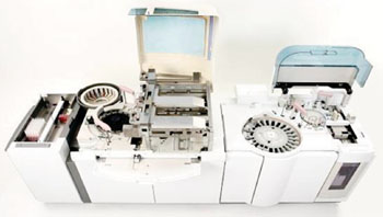 Image: The Cobas 6000 Multipurpose Clinical Laboratory analyzer (Photo courtesy of Roche Diagnostics).