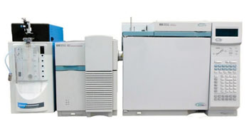Image:  The Agilent 6890 GC with 5973 Mass Spectrometer and Tekmar Velocity XPT Purge & Trap (Photo courtesy of Gen Tech).