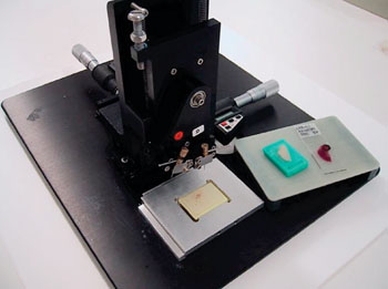 Image: A tissue micro arraying instrument (Photo courtesy of Beecher Instruments).