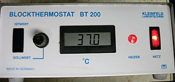 Image: The Blockthermostat BT 200 (Photo courtesy of Kleinfeld Labortechnik).