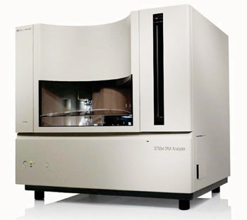 Image: The ABI 96-capillary 3730xl DNA Analyzer (Photo courtesy of Life Technologies).