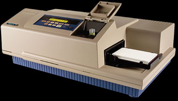 Image: The SpectraMax M2 spectrofluorometer (Photo courtesy of Molecular Devices).