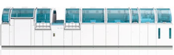 Image: The cobas 8100 automated workflow system (Photo courtesy of Roche).