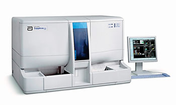 Image: The CELL-DYN Sapphire hematology analyzer (Photo courtesy of Abbott Diagnostics).