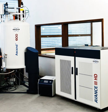 Image: The Avance III 600 spectrometer for proton nuclear magnetic resonance analysis (Photo courtesy of Bruker).