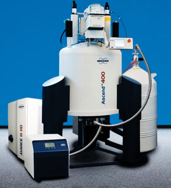 Image: The nuclear magnetic resonance AVANCE III spectrometer (Photo courtesy of Bruker).