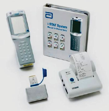 Image: The i-Stat point-of-care system (Photo courtesy of Abbott Point of Care).