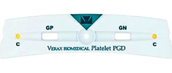 Image: The Platelet PGD Test is a rapid, qualitative immunoassay for the detection of aerobic and anaerobic Gram-positive and Gram-negative bacteria in platelets for transfusion (Photo courtesy of Verax Biomedical).
