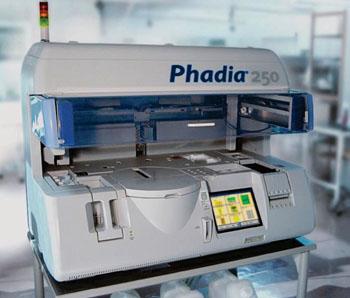 Image: The Phadia 250 Immunoassay Analyzer (Photo courtesy of Phadia AB).