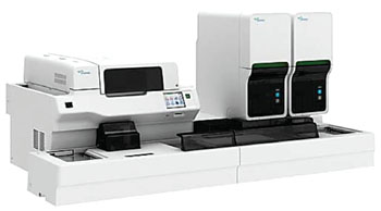 The Sysmex XN-3000 automated hematology analyzer (Photo courtesy of Sysmex Corporation).