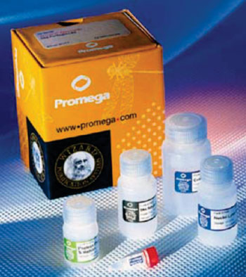 Image:  The Wizard Genomic DNA Purification kit (Photo courtesy of Promega).