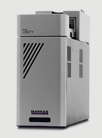 Image:  Thermal desorption/gas chromatography/time-of-flight mass spectrometry (TD/GC-MS) (Photo courtesy of Markes International).