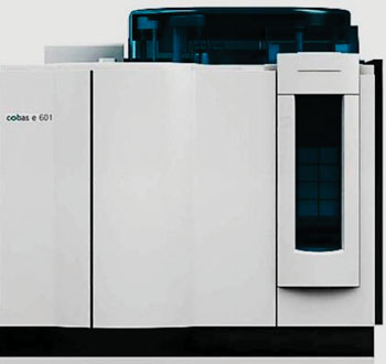 Image: The cobas e601 module immunology analyzer (Photo courtesy of Roche diagnostics).