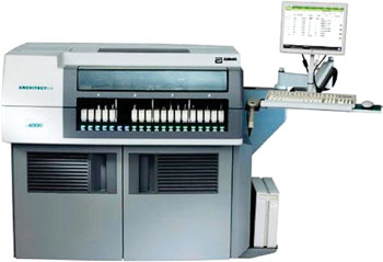 Image: The ARCHITECT ci4100 clinical chemistry and immunoassay testing analyzer (Photo courtesy of Abbott Diagnostics).