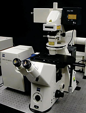 Image: The Zeiss LSM510 laser scan confocal microscope (Photo courtesy of the University of Wisconsin–Madison).