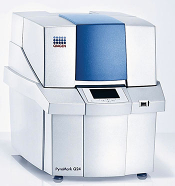 Image: The PyroMark Q24 instrument uses pyrosequencing technology for real time, sequence-based detection and quantification of sequence variants and epigenetic methylation (Photo courtesy of Qiagen).