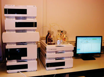 Image: The Agilent 1200 high-performance liquid chromatography system (Photo courtesy of Marine Biophysics Laboratory).