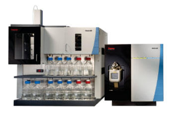 Image: Combining the Thermo Scientific Prelude MD HPLC (left), Endura MD mass spectrometer (right), and ClinQuan MD software, enables simple and confident attainment of the high quantitative accuracy of LC-MS (Photo courtesy of Thermo Fisher Scientific).