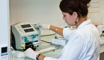 Image: Coating nitrocellulose strips for the simultaneous analysis of multiple analytes (Photo courtesy of NG Biotech).