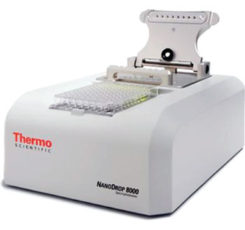 Image: The NanoDrop 8000 UV-Vis Spectrophotometer (Photo courtesy of Thermo Scientific).