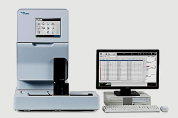 Image: The UF-5000 Fully Automated Analyzer of Formed Elements in Urine (Photo courtesy pf Sysmex Corporation).