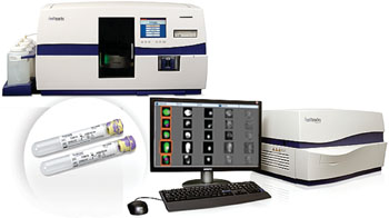 Image: The CELLSEARCH semi-automatic system that can capture and quantify circulating tumor cells (Photo courtesy of Janssen Diagnostics).