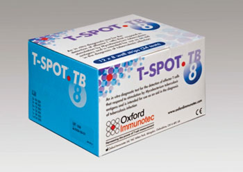 Image: The T-SPOT.TB interferon-gamma release assay kit, a blood test for the detection of active and latent tuberculosis infection (Photo courtesy of Oxford Immunotec).