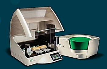 Image: The QX200 AutoDG Droplet Digital polymerase chain reaction (ddPCR) dystem (Photo courtesy of Bio-Rad).