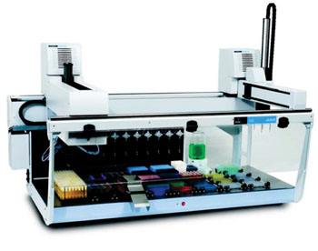 Image: The JANUS Automated Liquid Handling Workstation (Photo courtesy of Perkin Elmer).