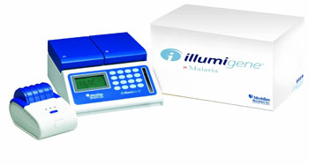 "Image: The new CE-marked ""illumigene Malaria"" DNA amplification assay for detection of Plasmodium spp. DNA in human whole blood samples (Photo courtesy of Meridian Bioscience)."