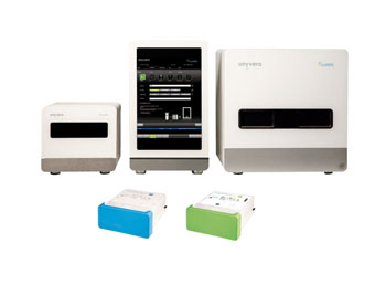 Image: The Unyvero System boasts special operating software, corresponding accessories, and now three different disposable cartridges for the detection of pneumonia, of implant and tissue infections, and of pathogens in blood cultures (Photo courtesy of Curetis).