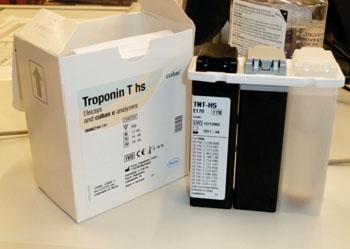Image: The Troponin T hs assay (Photo courtesy of Roche Diagnostics).