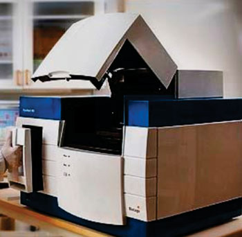 Image: The Pyromark Q96 MD pyrosequencing instrument (Photo courtesy of Qiagen).