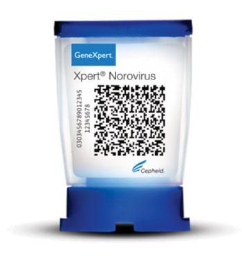 Image: The Xpert Norovirus assay cartridge (Photo courtesy of Cepheid).